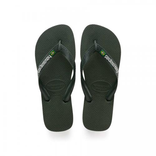 BRASIL LOGO OLIVE sandal