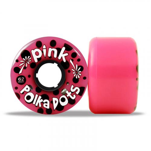 PINK POLKA DOTS longboard wheels